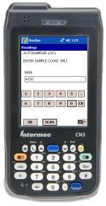 FlexOps Numeric Input screen